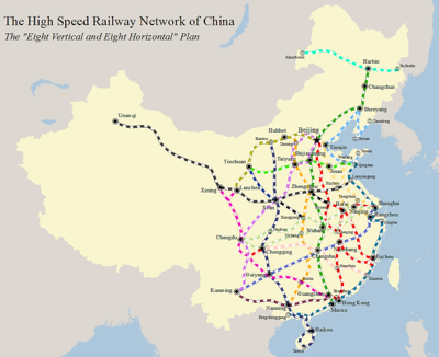 china bullet train map High Speed Rail In China Wikipedia china bullet train map
