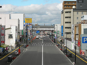 Chitose, Hokkaido - A street in front of Chitose Station