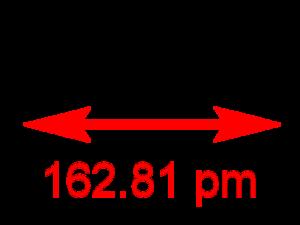 Chlorine monofluoride - Image: Chlorine monofluoride 2D dimensions