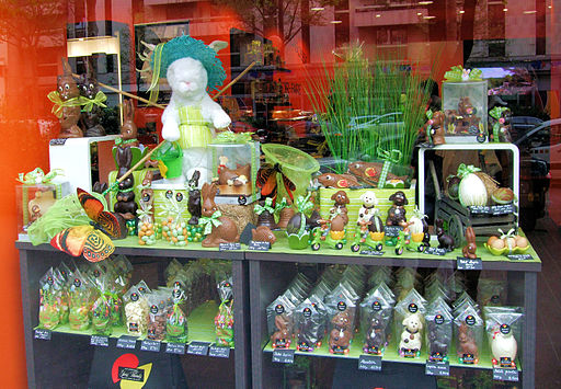 Chocolate Easter Bunnies In The 14th Arrondissement, Paris April 2014