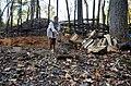 Chopping wood interpeter Monacan Village Indian Tribe Nation-Natural Bridge State Park3 (30497876350).jpg