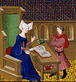 Christine de Pisan and her son.jpg