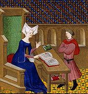 Christine de Pizan instructing her son.