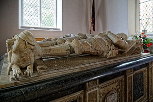 Earl of Sussex - 1st, 2nd and 3rd Earls of Sussex tomb chest in St Andrew's Church, Boreham, Essex