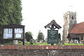 Church of St Christopher, Willingale, Essex, England - exterior sign board.JPG