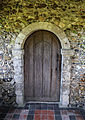 Church of St Michael, Leaden Roding, Essex, England - nave door in south porch.jpg