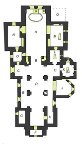 Fil:Church plan Vreta monastery church, Sweden.png