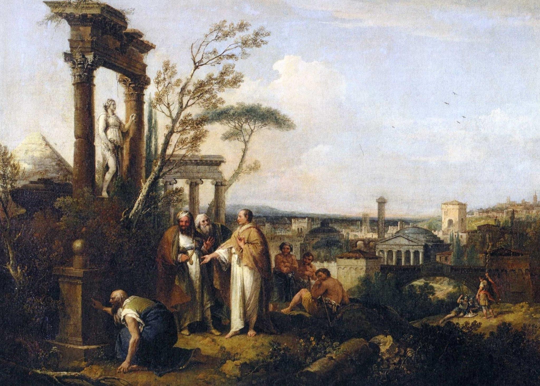 Cicero entdeckt das Grabmal des Archimedes (Zuccarelli)