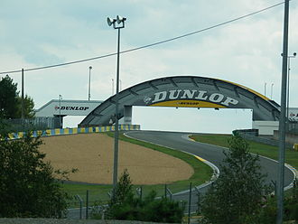 Circuit de la Sarthe - The chicane at the Dunlop Bridge