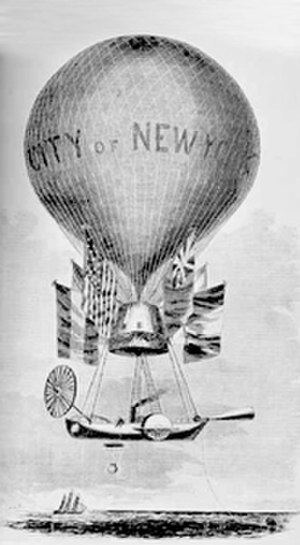 Thaddeus S. C. Lowe - Lowe's mammoth balloon the City of New York, later named Great Western, to be used in a transatlantic flight.