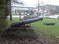 """Civil War cannon """"Il Porcellino"""" bronze fountain park Lyndon Center, Lyndon VT May 2019.jpg"""