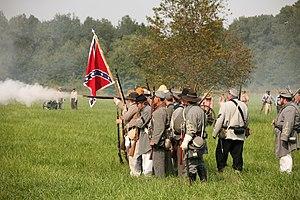 Civil war reenactment at Kennekuk County Park,...