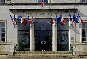 Civray, Vienne - The entrance to Civray town hall
