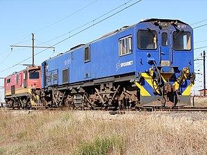 South African Class 10E1, Series 1 - No. 10-071 at Pyramid South, Pretoria, 7 May 2013