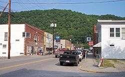 Main Street (WV Route 16) in Clay; Photo 2007
