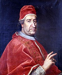 Pope Clement XI (1649-1721), whose 1713 bull Unigenitus condemned Quesnel and the Jansenists.