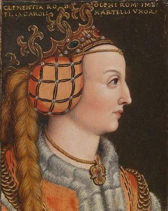 Clemence of Austria - Clementia of Habsburg by Anton Boys