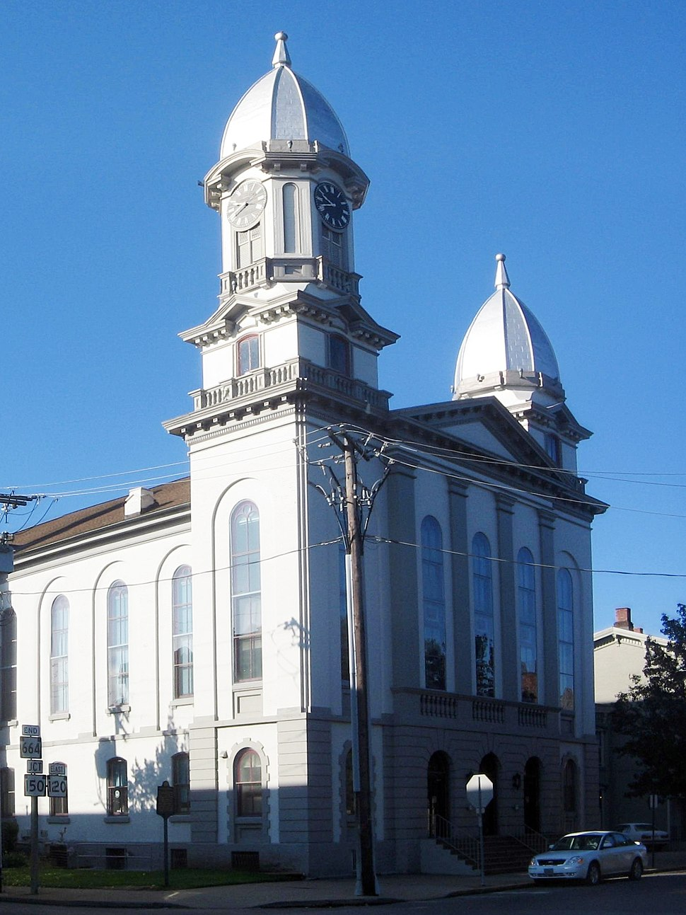 Clinton County Courthouse, Lock Haven (1869), Samuel Sloan and Addison Hutton, architects[1]