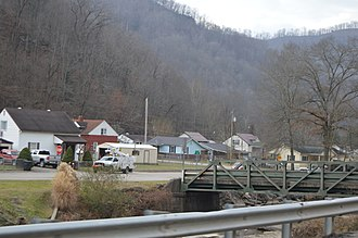 Clinton, Boone County, West Virginia - Overview from WV 85