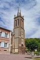 Clocher de l'église Saint-Martin de Courtonne-les-Deux-Églises. Vue sud-ouest.jpg