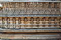 Close up of parapet wall relief in Chennakeshava temple at Hullekere.JPG