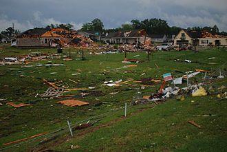 Coaling, Alabama - Homes damaged in Magnolia Springs subdivision.