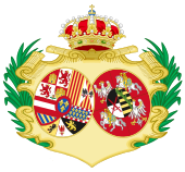 Coat of Arms of Maria Amalia of Saxony, Queen Consort of Spain.svg