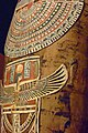 Coffin and Mummy of Esmin Ptolemaic Period 305-30 BCE Said to be from Akhmim gessoed gilded wood and cartonnage (1041285843).jpg