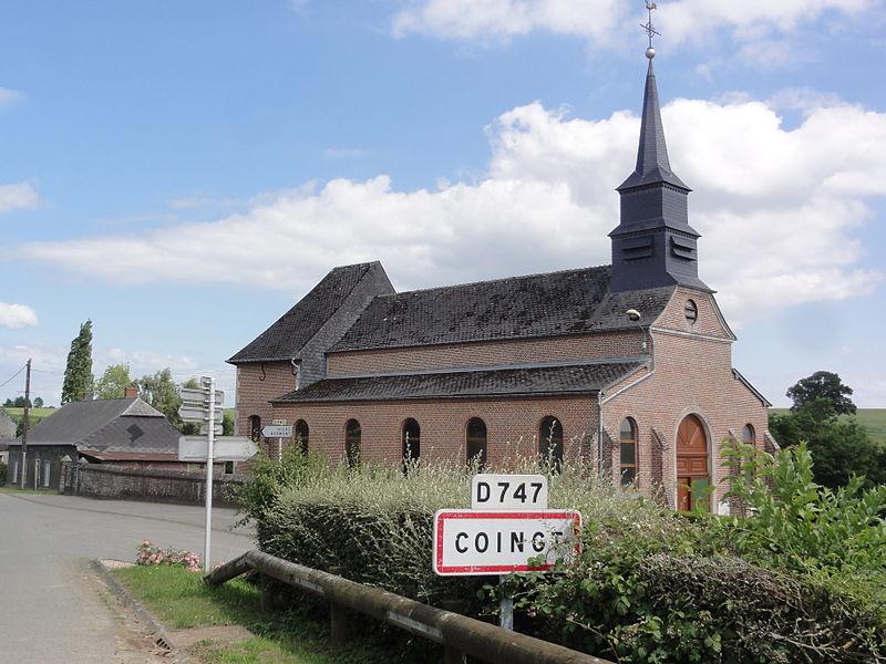 Coingt (Aisne) Église Sainte-Barbe, extérieur