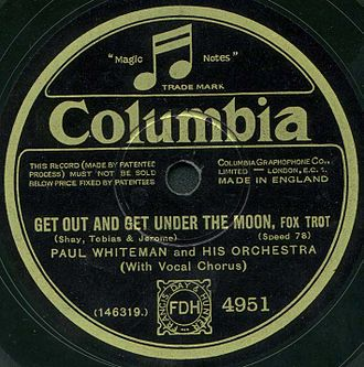 Columbia Records - The label of an electrically recorded Columbia disc by Paul Whiteman