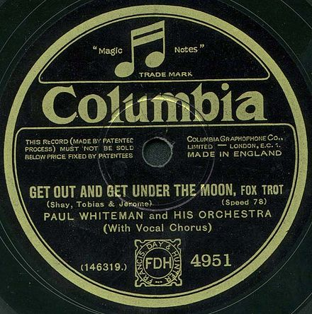 The British label of an electrically recorded Columbia disc by Paul Whiteman Col4951A.jpg
