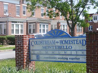 Coldstream-Homestead-Montebello, Baltimore human settlement in Baltimore, Maryland, United States of America