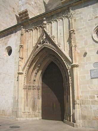 Route of the Borgias - Holy Mary's door in the Collegiate Basilica of Gandia.