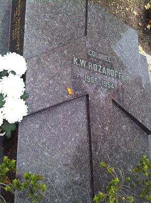 Constantin Rozanoff - Rozanoff's tomb in the Passy Cemetery, Paris.