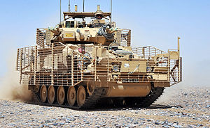 9th/12th Royal Lancers - Combat Vehicle Reconnaissance (Tracked) vehicle being operated in Afghanistan by soldiers of the 9th/12th Royal Lancers