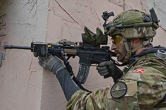 Danish Defence - Danish soldier at Combined Resolve III, 2014