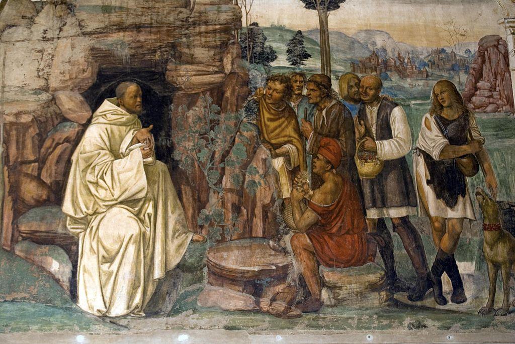 Come benedetto ammaestra nella santa dottrina i contadini che lo visitavano.jpg