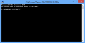COMMAND.COM in Windows 8