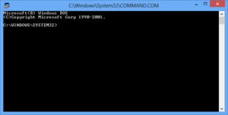 COMMAND.COM - Image: Command.com Win 8