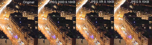 JPEG 2000 - Comparison between JPEG 2000, JPEG XR, and JPEG.