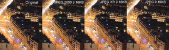 JPEG XR - Comparison between JPEG 2000, JPEG XR, and JPEG.