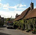 Compass Travel bus in The Street, Bramber - geograph.org.uk - 3126474.jpg