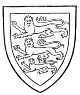Fig. 707.—Arms of Edmund of Woodstock, Earl of Kent, 3rd son of Edward I.: England within a bordure argent. The same arms were borne by his descendant, Thomas de Holand, Earl of Kent.