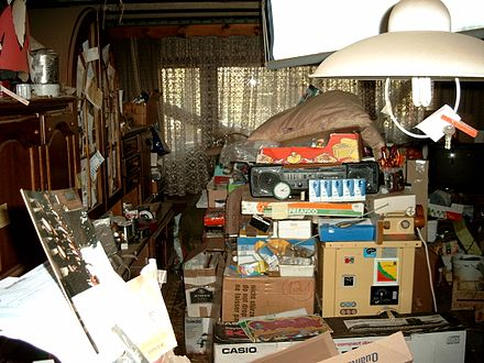Apartment of a person with compulsive hoarding Compulsive hoarding Apartment.jpg