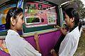 Computer - Exhibit with Schoolgirls - MSE Golden Jubilee Celebration - Science City - Kolkata 2015-11-19 5635.JPG