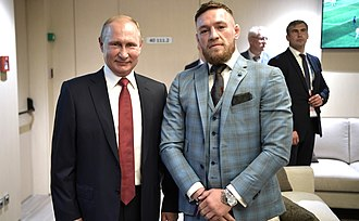 Conor McGregor - McGregor and Vladimir Putin, Moscow, 15 July 2018
