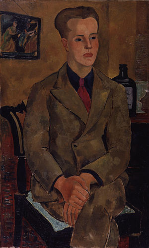Constant Lambert - Portrait by Christopher Wood (1926)