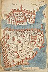 Constantinople mediaeval map