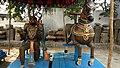 Copper Idols of Lord in Andhra Mahavishnu Temple in Srikakulam, Krishna District.jpg