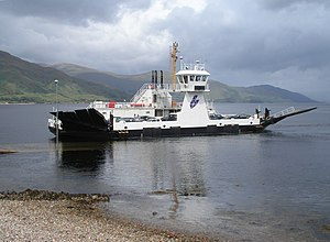 Corran Ferry - The Corran landing at Ardgour